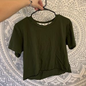 Victoria's Secret Olive Green Cropped Tee